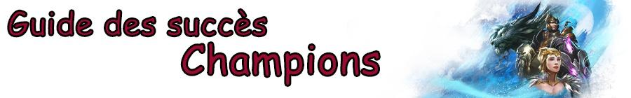 Guide des succès : Epopée du Givre - Champions