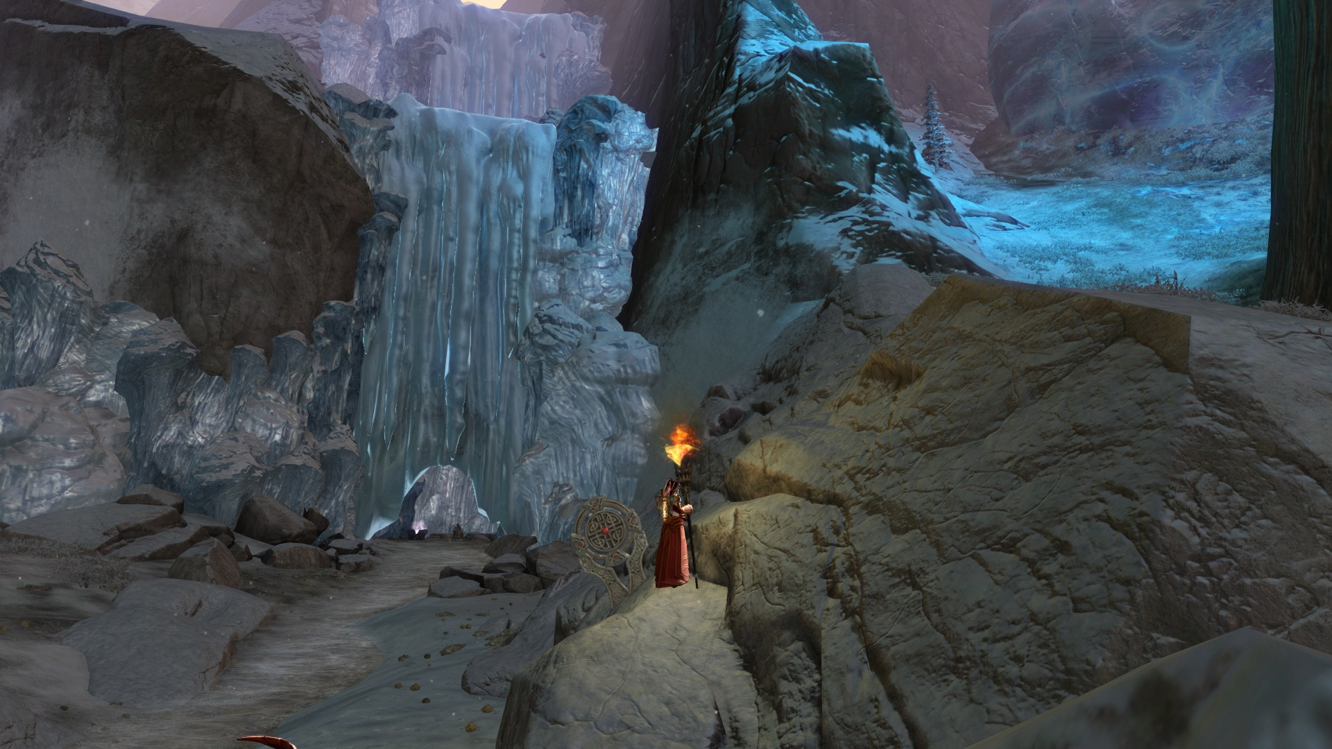 Réserves de la cascade gelée